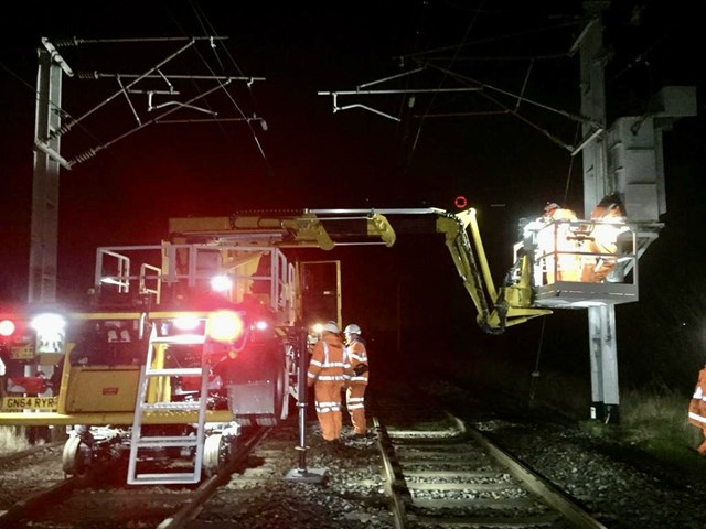 Overhead line repairs 2 Hest Bank 17 January 2020 2
