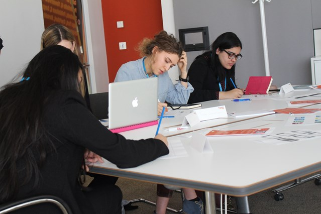 Northants schoolgirl gets first year's uni fees paid after triumphing in Network Rail IT competition: Competition winner Talia Grantham (centre) during the assessments on Could IT Be You? finalists' day