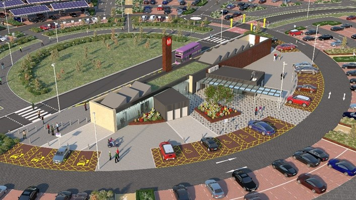 New animation shows how Leeds' new £38.5million park and ride will look once complete.: Stourton park and ride