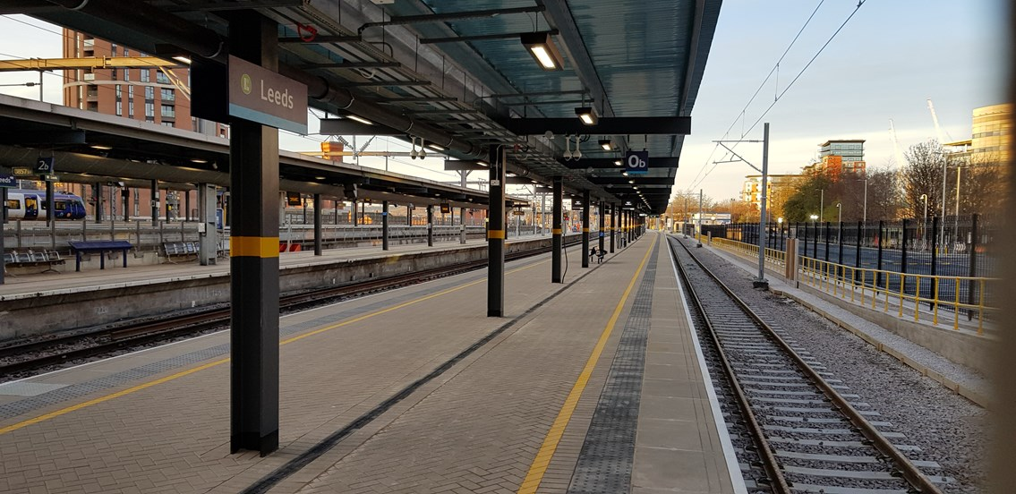 Network Rail releases images of brand-new platform at Leeds station: Platform 0, Leeds station