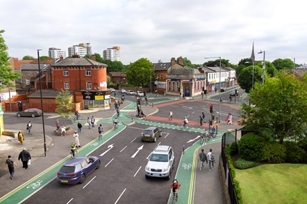 Chorlton Cycleway - Brooks Bar Junction - Visualisation