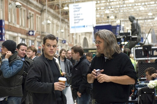 Matt Damon filming The Bourne Ultimatum at Waterloo