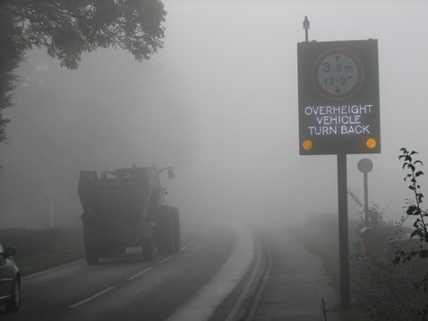 Interactive warning sign at Navigation bridge, Bromsgrove