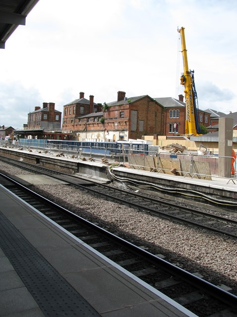 Work continues on platforms 1a 2a and 3a Derby Station