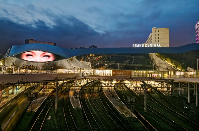 Railway investment means changes to trains in the West Midlands this Christmas and New Year: Birmingham New Street and Grand Central - by night