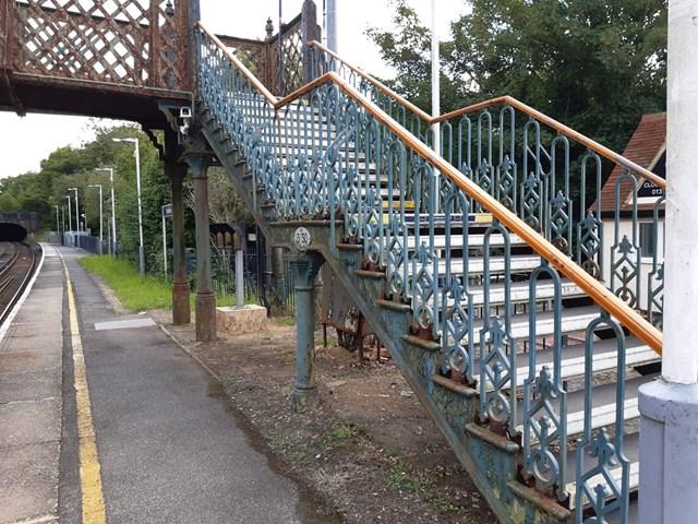 Bookham footbridge steps 2