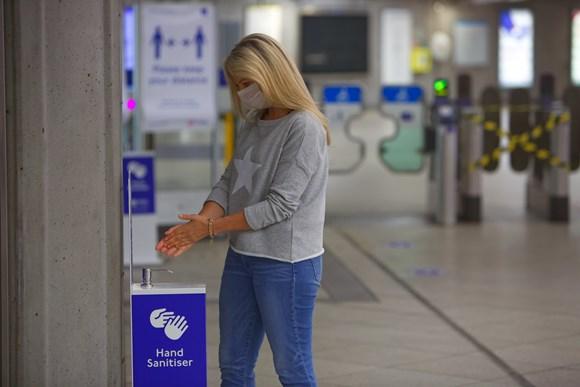 TfL Image - Hand sanitiser station