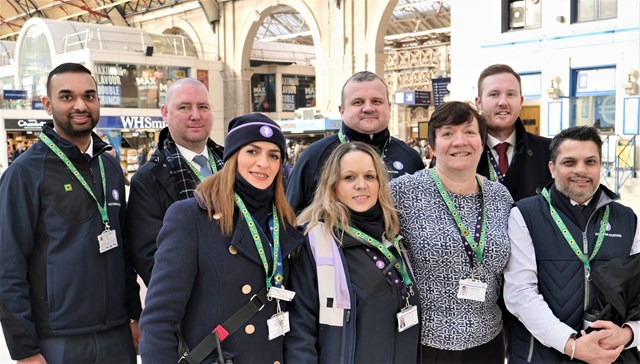 Extra help at major London stations for passengers with hidden disabilities: Victoria station team with lanyards