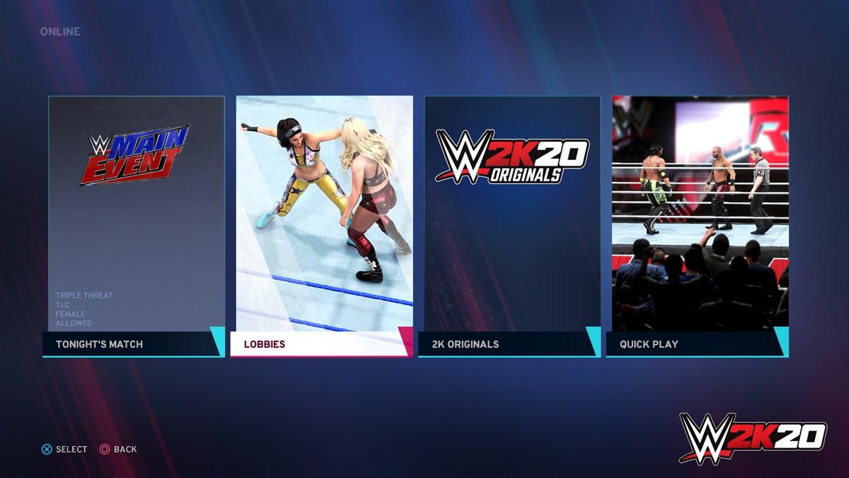 WWE2K20 Online Features