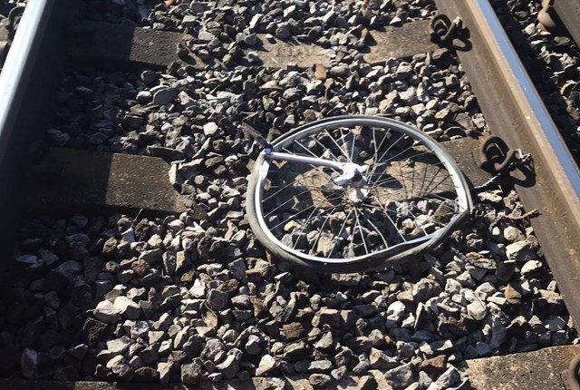 Appeal to parents and carers to keep young people off the railway in the South as COVID-19 school shutdown bites: Bicycle hit by train