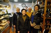 1. (L-R) Jill Clark, Connage Highland Dairy; Mairi Gougeon; cheesemonger Rory Mellis; Callum Clark; Jane Stewart, St Andrews Cheese