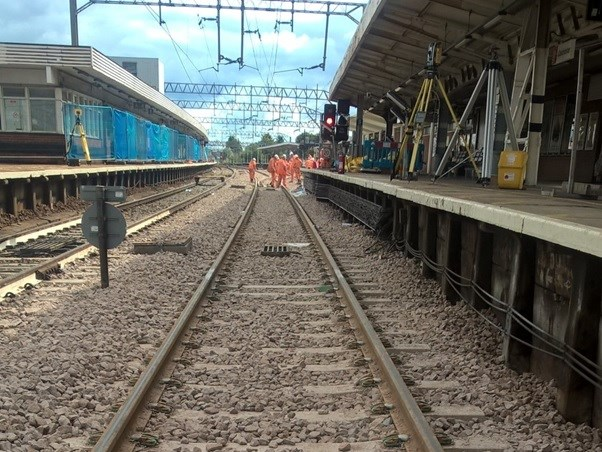 Reliability improvements following major upgrades on Norwich to London main line: New track S&C at Colchester