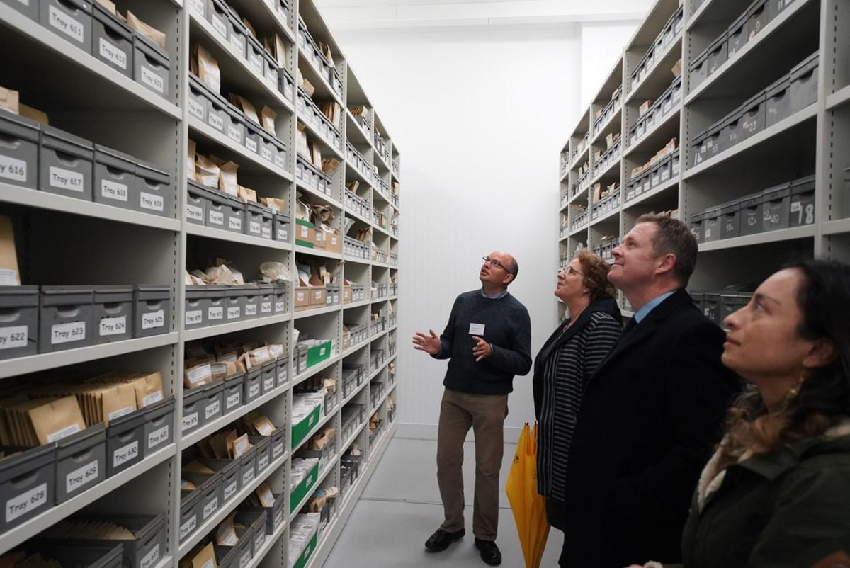 Jeremy Miles, visit Aberystwyth University: Counsel General Jeremy Miles, visit to BioInnovation, EU funding, WEFO