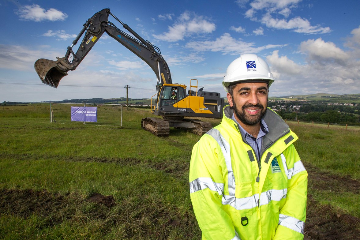 Transport Minister, Humza Yousaf - Dalry Bypass-2