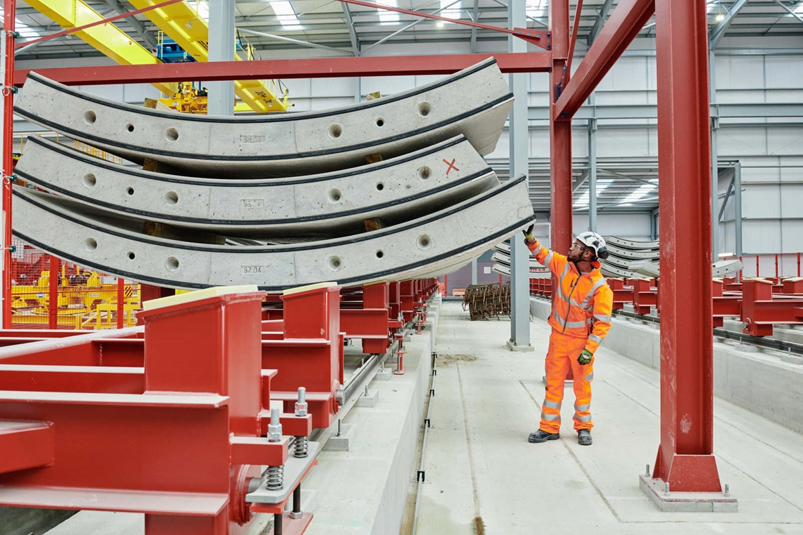 HS2 casts first of 112,000 Chiltern tunnel wall segments ahead of TBM launch: HS2-VL-21912-HS2 RY DavidHares SouthPortal 09March21 014 (1)