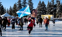 Sir John A Macdonald Great Canadian Kilt Skate: Canadians in Ottawa take to the ice to celebrate the birth of Sir John A Macdonald with the Great Canadian Kilt Skate