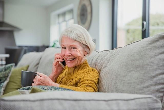 old lady on phone web