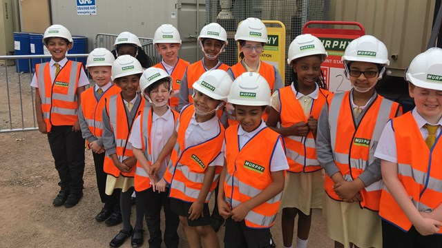 Children visit major station upgrade to become railway safety ambassadors: Corpus Christi railway safety ambassadors