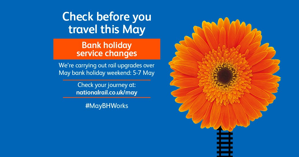 Check before you travel over May bank holidays as work to upgrade railway from London to Carlisle continues: Passengers are urged to check before they travel this May