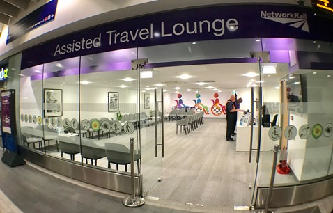 Passengers to benefit from new assisted travel lounge at Birmingham New Street: Assisted travel lounge exterior