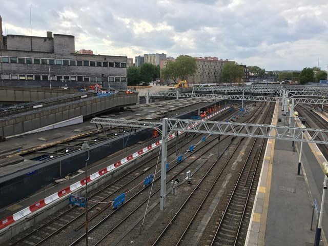 Early May Euston station work 1