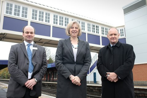 Footbridge gives rail users a lift (or three)
