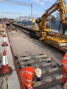 Shenfield Junction track work