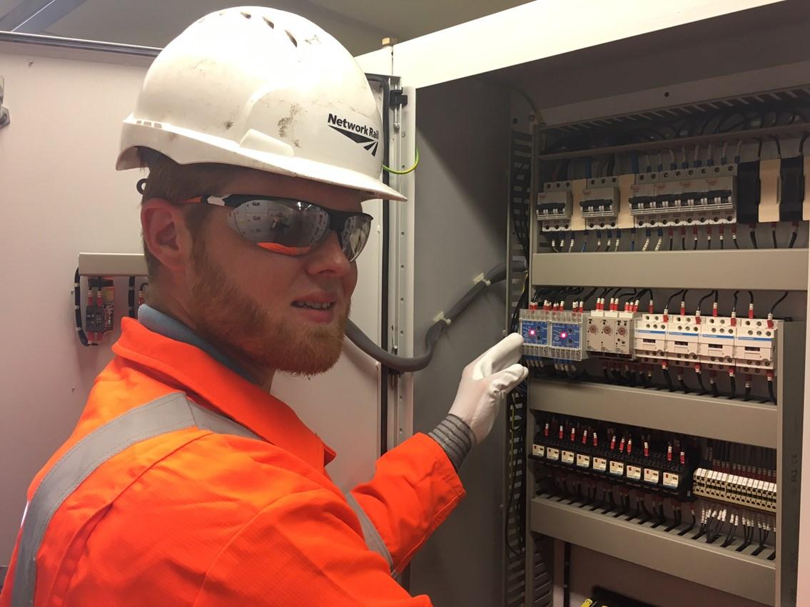 Advanced apprentice David Woodard