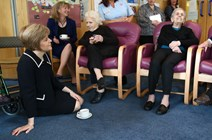 Life expectancy and state pensions: Shona Robison and Nicola Sturgeon visit Eva Burrows Centre, Salvation Army, Cambuslang