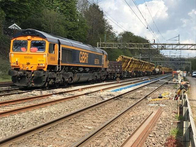 Watford North junction engineering train