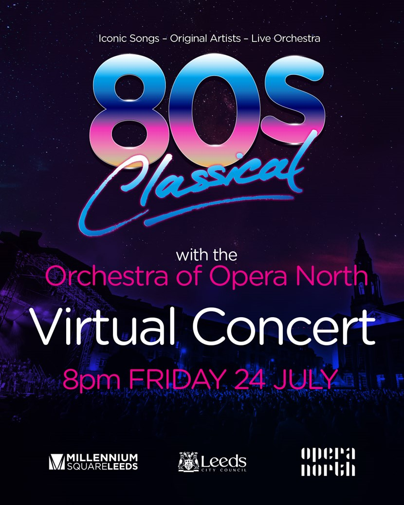 80s Classical set for Virtual Symphonic Spectacular: 80's Classical 2020 virtual concert 1080x1350px aw