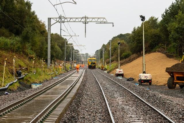 Flood-damaged Edinburgh-Glasgow Line set to reopen: Polmont Landslip 2