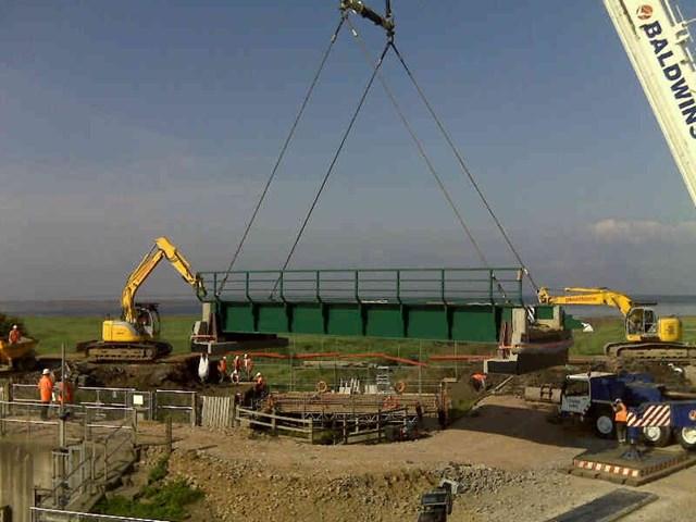 New Pill Bridge being put in place: Pill Bridge