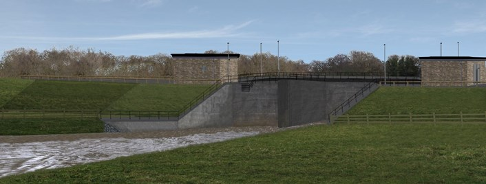 Planning application submitted and funding pledged for flood defence measures in west Leeds and Apperley Bridge, Bradford: Apperley Bridge 2 after standard conditions