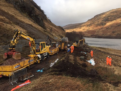 Glenfinnan recovery works 1