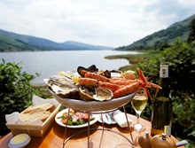 1050478 - Seafood platter with loch in background-2