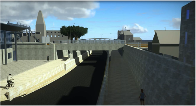 Design image of the proposed new Botley Road bridge