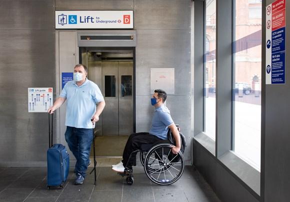 TfL Image - Customers using the London Underground