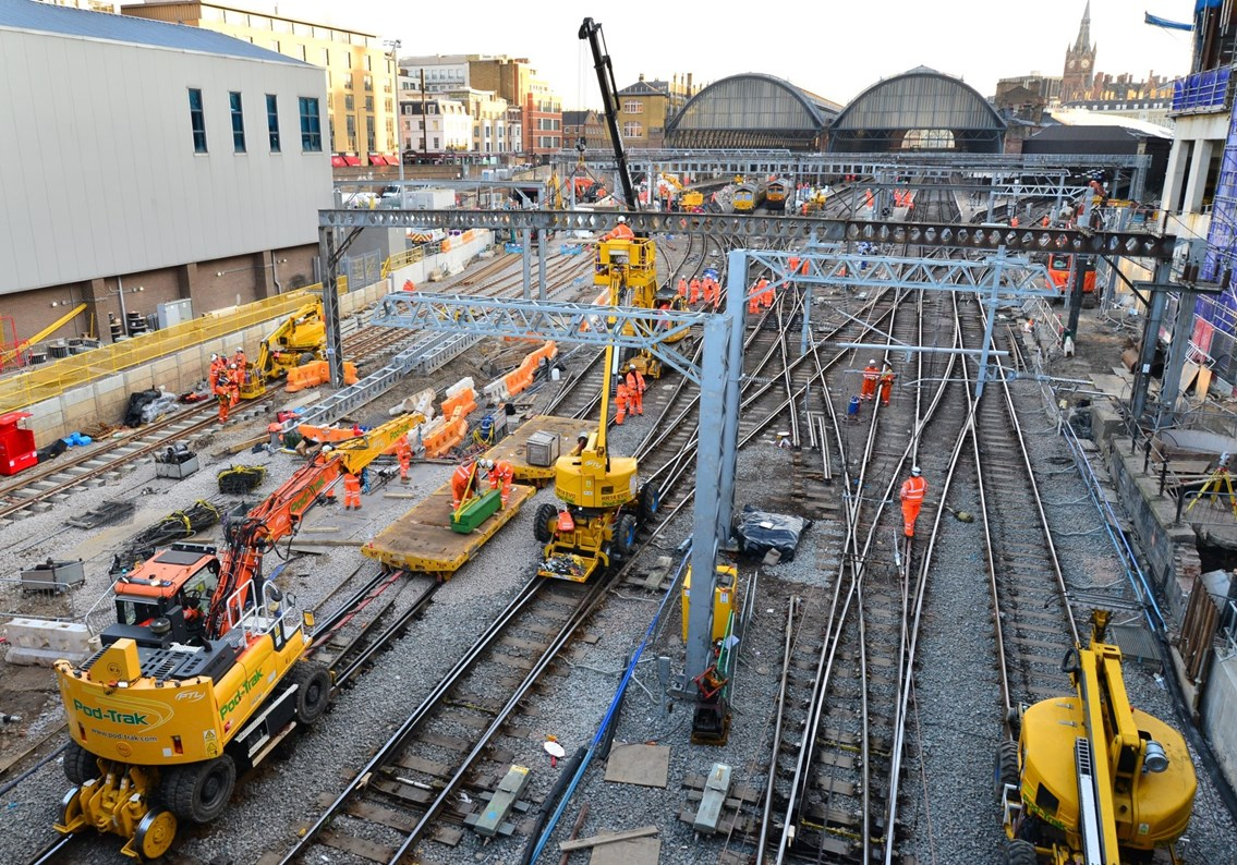 Month to go until three-day closure including a Friday at King's Cross as Network Rail transforms track layout to improve reliability: Work to transform track layout at King's Cross