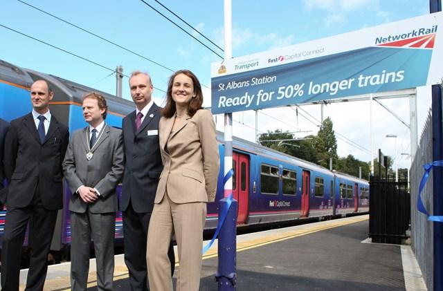 Transport minister marks completion of longer platforms at St Albans