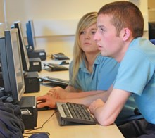 Network Rail apprentices in the computer room: Network Rail apprentices in the computer room