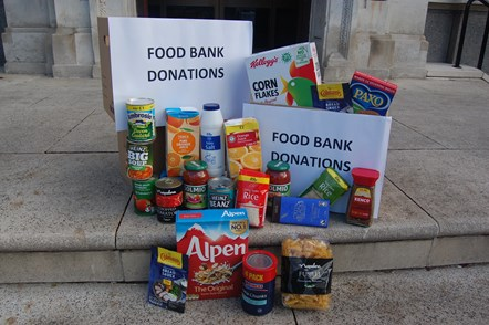 Food bank donations in Islington