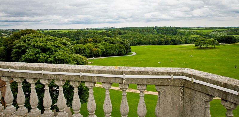 Temple Newsam House: View from the rooftop of Temple Newsam House in Leeds