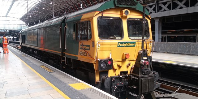 World-leading lidar survey set to improve passenger journeys: RILA on freight train at Paddington