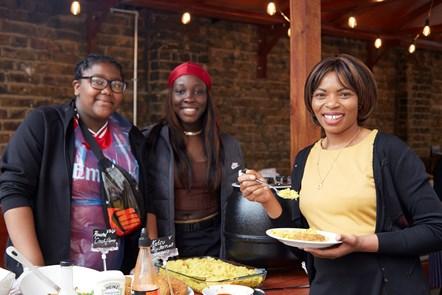 Shaya Allen, Miriam Etuk and Cllr Ngongo