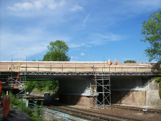 Andover Road - New Structure: The new bridge over the railway at Andover Road