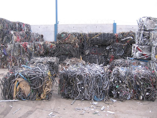 Cable gang who cost railway almost £715k jailed: cable at scrap yard