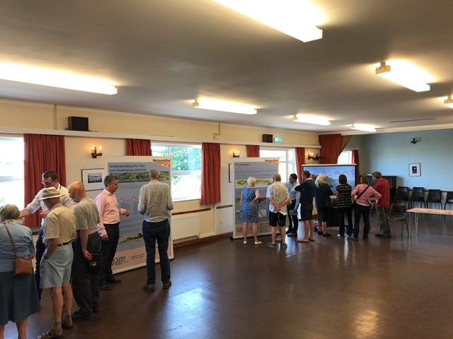 Parsons Tunnel to Teignmouth Holcombe consultation event July 2019