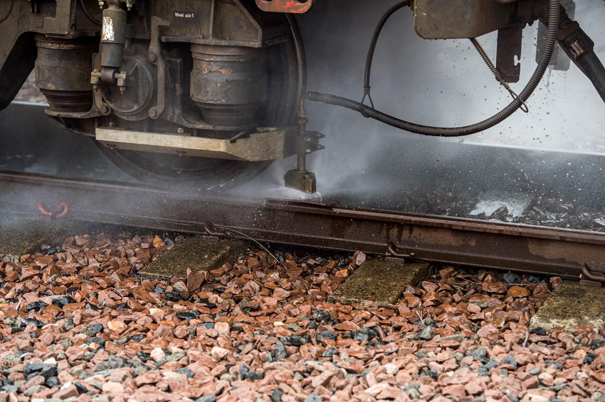 Autumn rail head treatment train