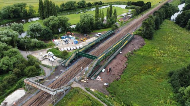New footbridge ramps up accessibility around Mexborough